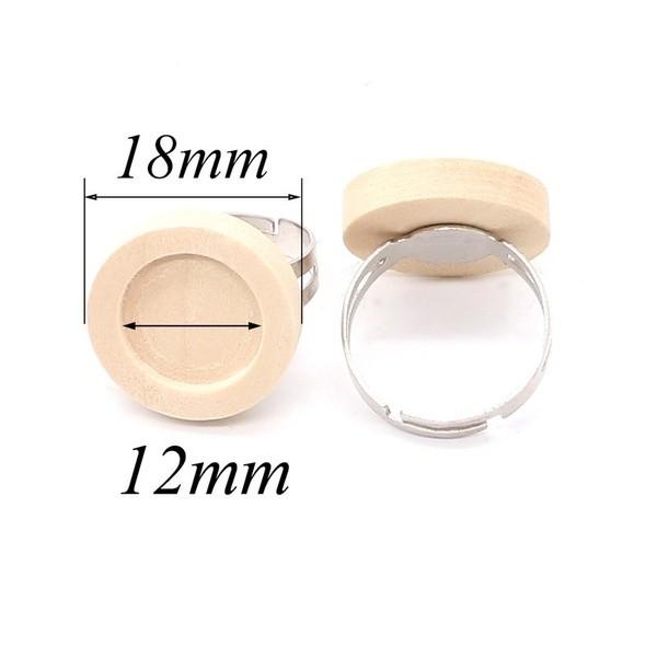 einstellbare Holz Ring
