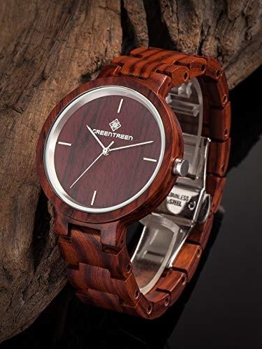 Handgefertigte Armbanduhr aus Holz für Männer und Frauen